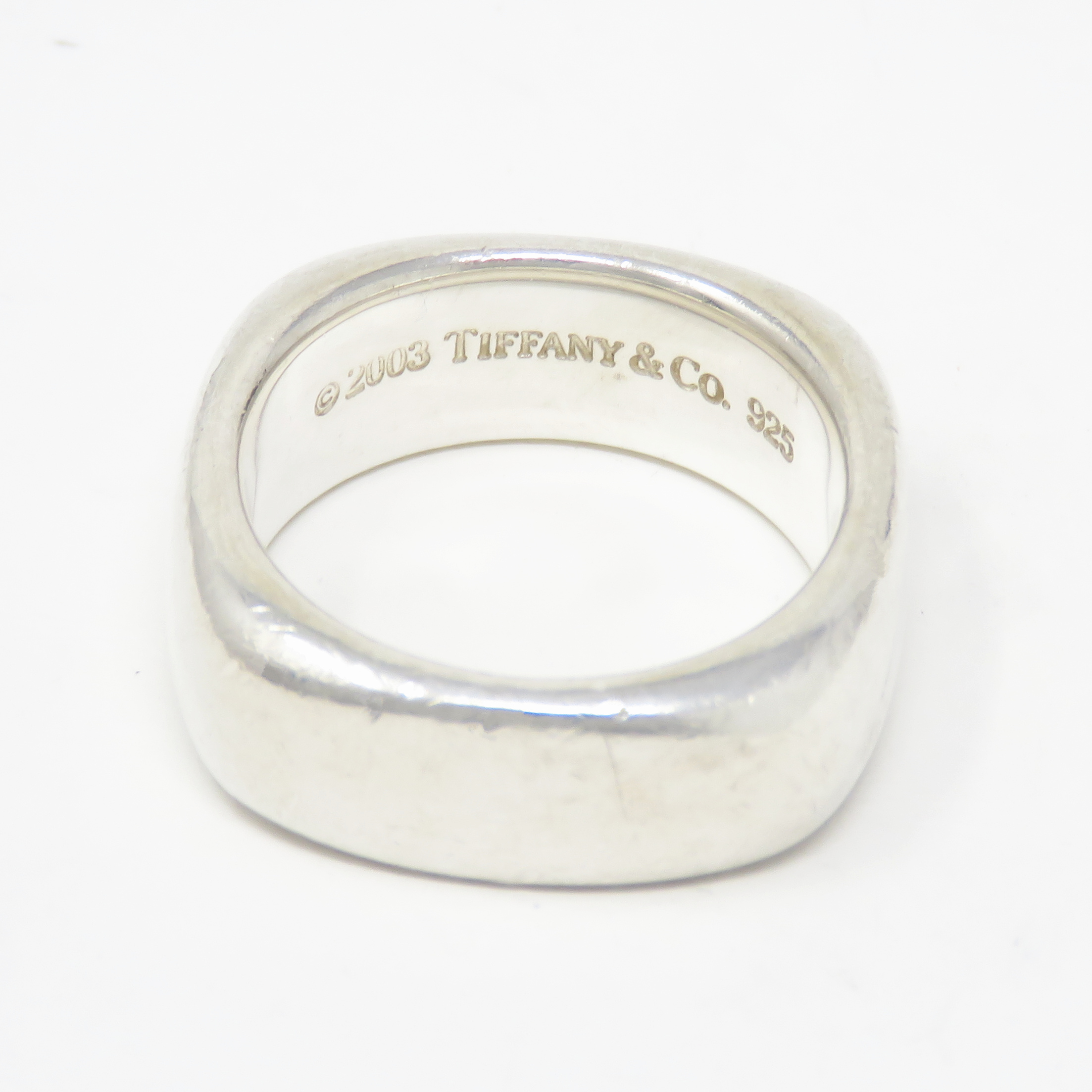 1d28eb6dd Nyjewel Tiffany Co 925 Sterling Silver 2003 8mm Wide Square